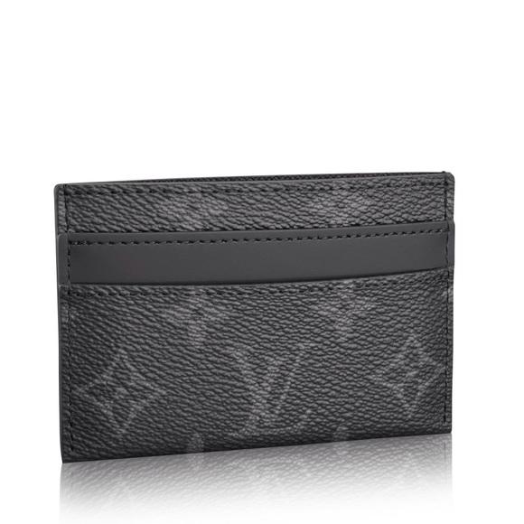 65f4ab6833 Louis Vuitton Monogram Eclipse Card Holder Black